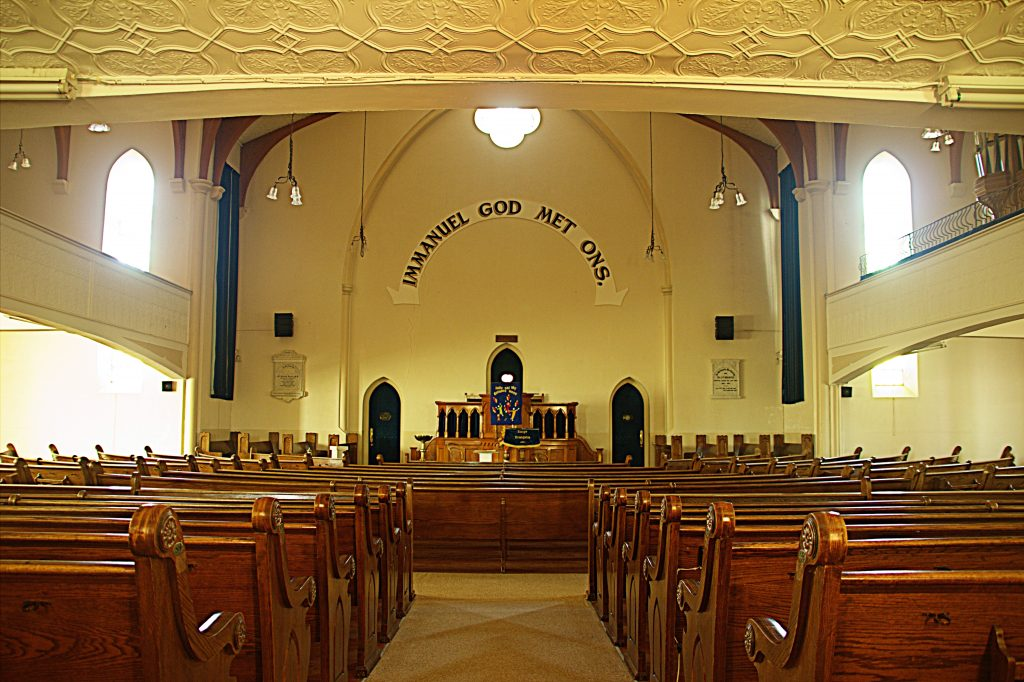 Inside of the DR Church in Lady Grey